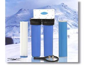 Crystal Quest CQE-WH-01108 Whole House Double 20 in. x 5.0 in. Water Filter System