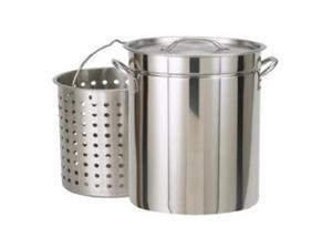 Bayou Classic 62 Quart Stainless Steel Steam/Boil/Fry Pot with Lid and Bask