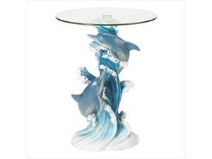 SWM 38425 Playful Dolphins Accent Table