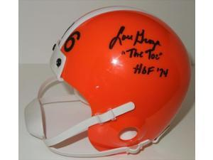 Lou Groza Autographed Cleveland Browns Mini Helmet With Inscription