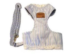 Creative Motion Industries 12688 Stripe Dog Cloth with a Leash-Blue