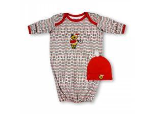 Spencers H822B/0-6 Spencers Christmas Gown & Cap Set - 0-6 Months