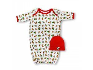Spencers H922B/0-6 Spencers Christmas Gown & Cap Set - 0-6 Months