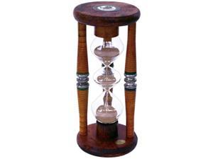 River City Cuckoo 905BB Three Tier Five Minute Antique Wood Sand Timer