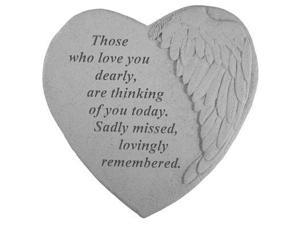 Kay Berry 08906 Winged Heart Memorial Stone - Those Who Love You...
