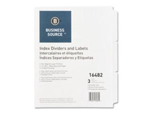 Business Source BSN16484 Index Dividers- 3HP- 8-Tab- White