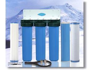 Crystal Quest CQE-WH-01109 Whole House Triple 20 in. x 5.0 in. Water Filter System