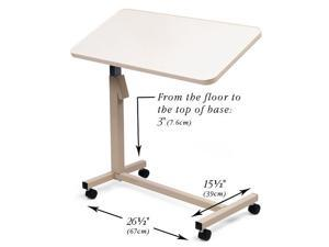 North Coast Medical NC29510 Mobile Table with Tilting, Height-Adjustable Tabletop