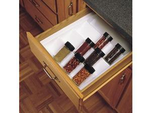 Rev A Shelf Rsst.2Gw.52 11-.38 In. Spice Tray Insert Trimmable - White