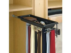 Rev A Shelf Rstbc.14Tcr Pull-Out Chrome Tie-Belt Rack With Tray