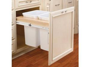 Rev A Shelf Rs4Wctm.24Dm2 21 In. Double Top Mount 1.5 In. Face Frame Wood Waste Containers