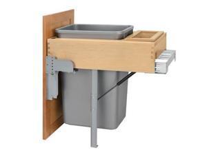 Rev A Shelf Rs4Wctm.Rm.1850Dm.1 50Qt Single Top Mount Rev-A-Motion Wood Waste Containers