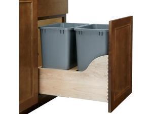 Rev A Shelf Rs4Wcsc.1835Dm.2 35Qt Double Waste Unit With Tandem Soft Close