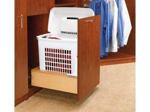 Rev A Shelf Rs4Wh.Rm.15Dm.1 Hamper Bottom Mount Rev-A-Motion With Polymer Bin For Bathroom-Vanity