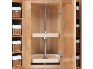 Rev A Shelf Rs4Wls272.31.52 31 In. D-Shape Wood Classic 2 Shelf Corner Lazy Susans