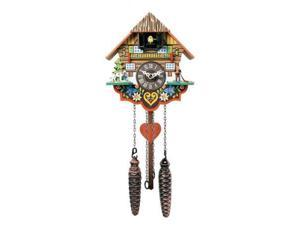 River City Cuckoo M8-08PQ Musical Multi-Colored Quartz Cuckoo Clock