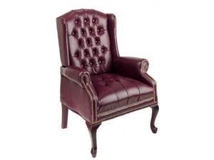 Office Star TEX234-JT4 Traditional Queen Anne Style Chair- Mahogany - Wood