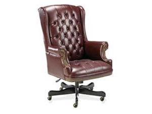Lorell LLR60603 Executive Vinyl Swivel Chair- 30in.x32in.x44in.-46in.- Burgundy
