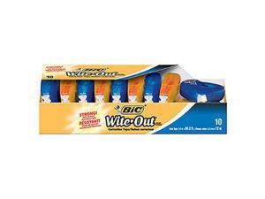 "Wite-Out EZ Correct Correction Tape Non-Refillable 1/6"" x 472"" 10/Box"
