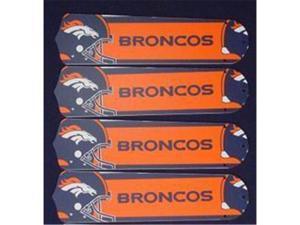 Ceiling Fan Designers 52SET-NFL-DEN NFL Denver Broncos Football 52 In. Ceiling Fan Blades Only