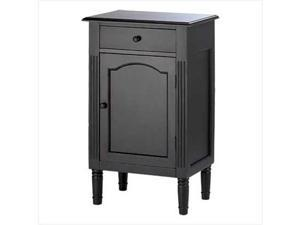 SWM 39092 Antique Black Wood Cabinet