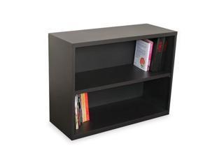 Marvel MSBC236_DT Ensemble Two Shelf Bookcase, 36W x 14D x 27H - Dark Neutral