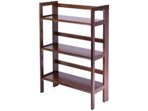 Winsome Trading Inc 94896 3 Tier Walnut Stackable Folding Book Shelf