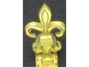 Mayer Mill Brass - FDH-S - Fleur De Lis Stocking Hook - Small