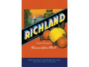 Richland Brand Citrus 12x18 Giclee On Canvas