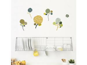 SPOT by ADzif S3335A14 Little Garden Pompom Flowers, Wall Decal Color Print