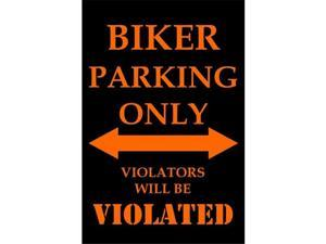 P-2050 Biker Parking Only Parking Signs