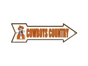 A - 016 OSU Oklahoma State University Cowboys Country - Arrow Sign - AS25025
