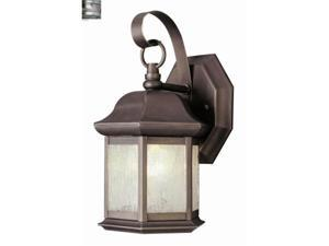 Trans Global Lighting 4870 BN Classic 1 Light Outdoor Small Hexagon Wall Sconce - Brushed Nickel