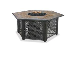 Import GAD1374SP Fire Pit With Slate Tile Top and Electronic Ignition