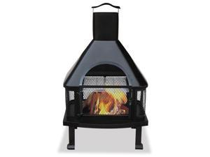 Import WAF1013C Black Firehouse With Chimney