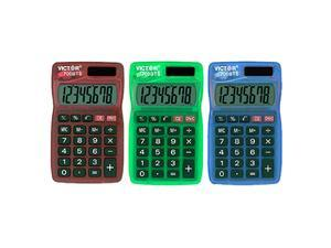 Victor Technology VCT700BTS Dual Power Pocket Calculator