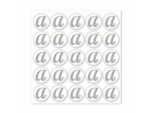 Weddingstar 9400-D Monogram with Single Rhinestone Epoxy Sticker Letter - D