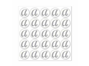 Weddingstar 9400-M Monogram with Single Rhinestone Epoxy Sticker Letter - M