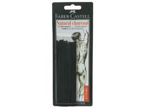 Faber-Castell FC129198 Natural Willow Charcoal Stick 20-Pack