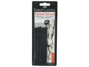 Faber-Castell FC129398 Natural Willow Charcoal Stick 6-Pack