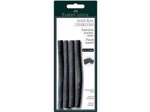 Faber-Castell FC129498 Natural Willow Charcoal Stick 4-Pack