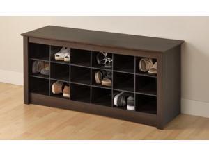 Prepac ESS-4824 Espresso Shoe Cubbie Bench