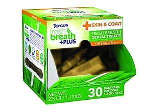 Tropiclean Fresh Breath Plus Dental Dog Treats 1.2 Ounce-30 Pc Skin & Coat 001749