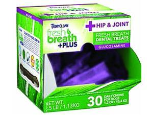 Tropiclean Fresh Breath Plus Dental Dog Treats 1.2 Ounce-30 Pc Hip & Joint 001763