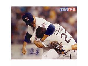 Tristar Productions I0010872 Nolan Ryan Autographed Texas Rangers 16 X 20 Photo - Ventura Fight