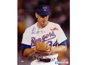 Tristar Productions I0004086 Nolan Ryan Autographed Texas Rangers 16x20 Photo with Bloody Lip