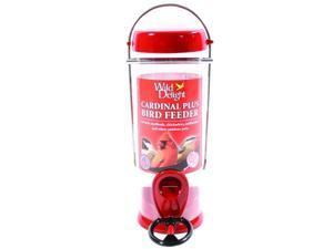 Droll Yankees Wild Delight Cardinal Plus Bird Feeder 8 Inch Red WDCP8
