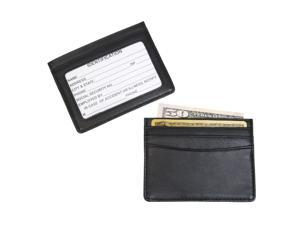 Royce Leather 406-BLK-5 Mini ID & Credit Card Holder - Black