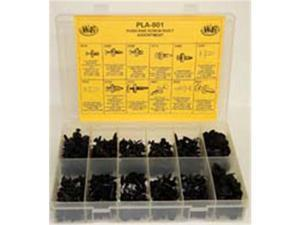 W and E Sales WEPLA-801 315 Pieces Push and Screw Rivets Assortment