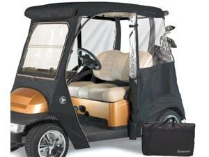 Greenline GLECCG02 2 Passenger Drivable Golf Cart Enclosure and Torry Green 106 in. L x 47.5 in. W x 62 in. H
